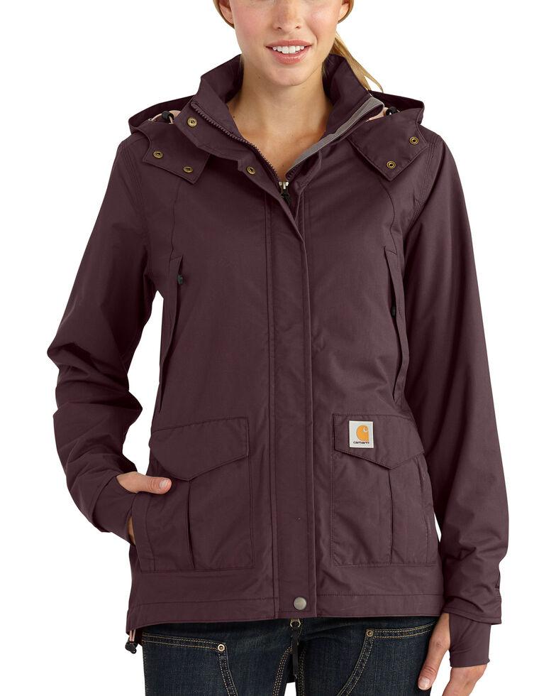 Carhartt Women's Shoreline Work Jacket, Wine, hi-res