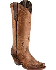 Tony Lama Women's Black Label Western Boots, Tan, hi-res