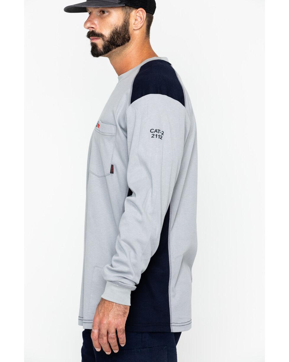 Cinch WRX Men's Grey Long Sleeve FR Raglan Shirt, Grey, hi-res