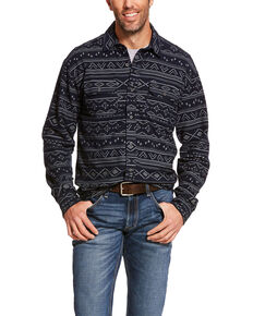 Ariat Men's Folister Retro Aztec Print Long Sleeve Flannel Shirt , Multi, hi-res