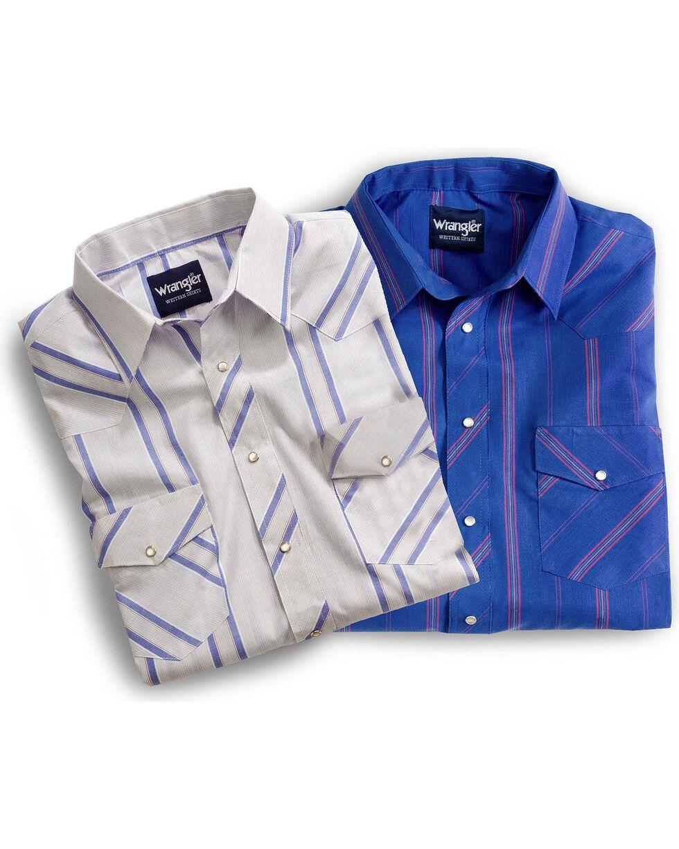 Wrangler Men's Sport Stripe Western B&T Shirts, Plaid, hi-res