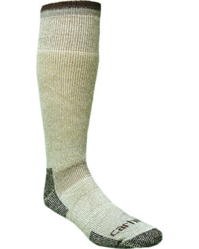 Carhartt Men's Arctic Wool Heavyweight Boot Socks, Moss, hi-res