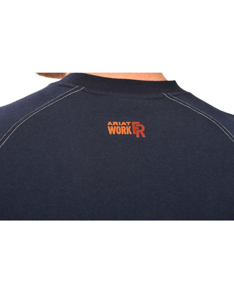 Ariat Flame Resistant Workwear Crew Long Sleeve T-Shirt - Big & Tall, Navy, hi-res
