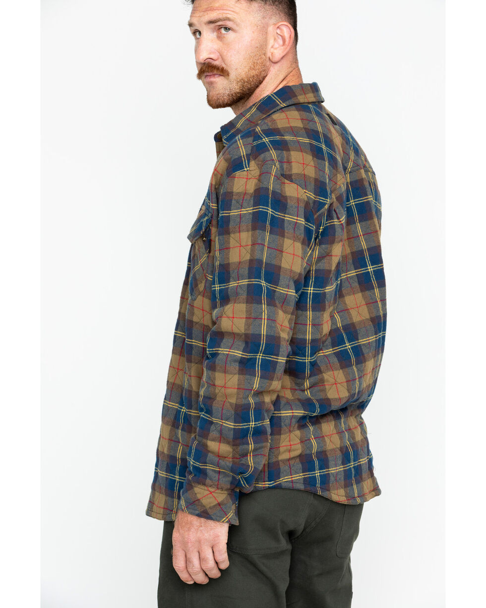 Hawx Men's Plaid Long Sleeve Multi-Quilted Flannel Work Shirt , Multi, hi-res
