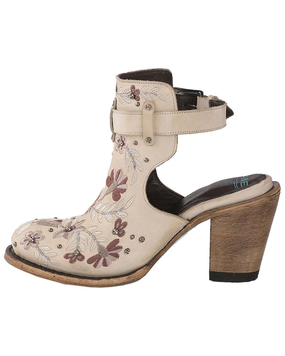 Lane Women's Floral Halfsie Fashion Booties - Round Toe, Ivory, hi-res