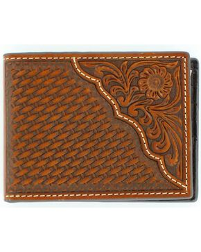 Nocona Men's Leather Bi-Fold Wallet, Tan, hi-res