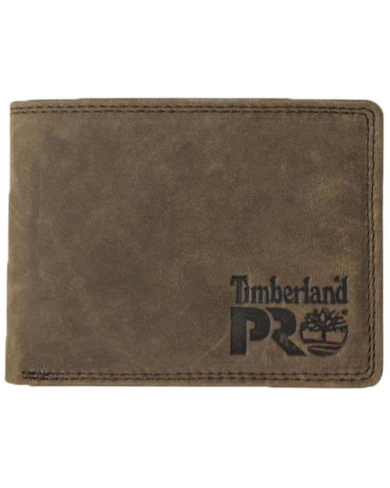 Timberland Pro Men's Leather RFID Flip Pocket Wallet, Dark Brown, hi-res