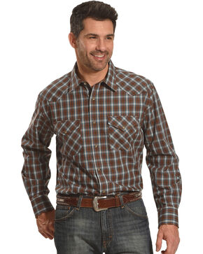 Pendleton Men's Brown Frontier Long Sleeve Shirt , Brown, hi-res
