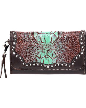 Blazin Roxx Women's Carmel Clutch, Tan, hi-res