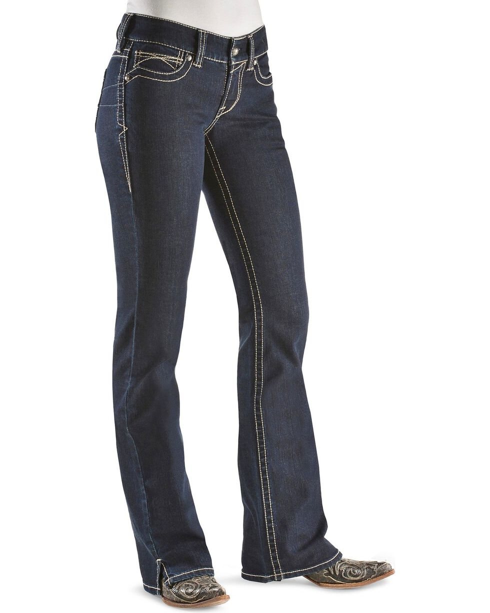 Ariat Women's Real Denim Eclipse Boot Cut Riding Jeans, Dark Denim, hi-res
