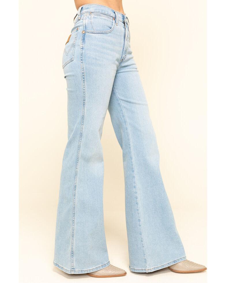 Wrangler Modern Women's High Rinse Light Wash Fly High Flare Jeans, Blue, hi-res