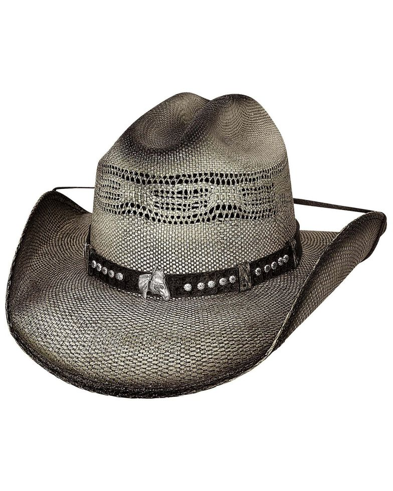 Bullhide Boys' Wheelhorse Straw Hat, Black, hi-res