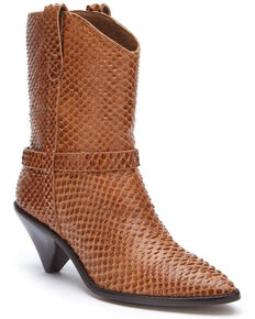 Matisse Women's Cognac Fair Lady Fashion Booties - Pointed Toe, Cognac, hi-res