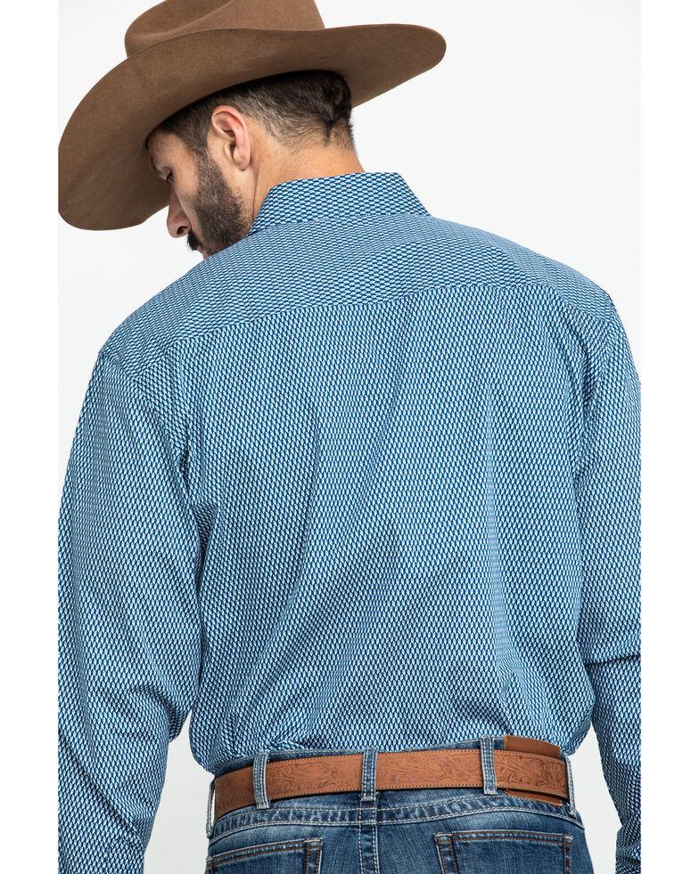 Cinch Men's Modern Fit Blue Diamond Geo Print Long Sleeve Western Shirt , , hi-res