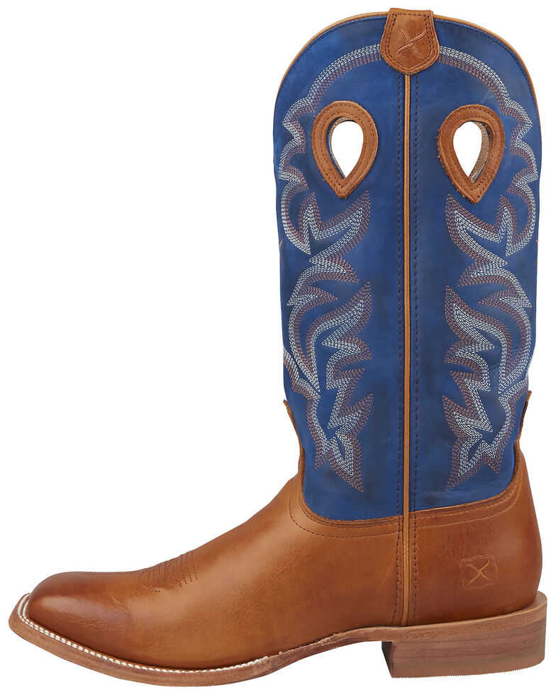 Twisted X Men's Ruff Stock Western Boots - Wide Square Toe, Tan, hi-res