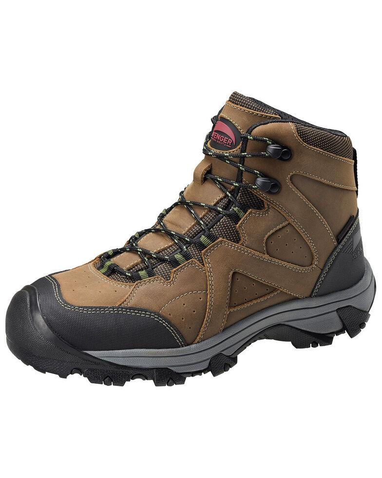 Avenger Men's Crosscut Waterproof Work Boots - Steel Toe, Brown, hi-res