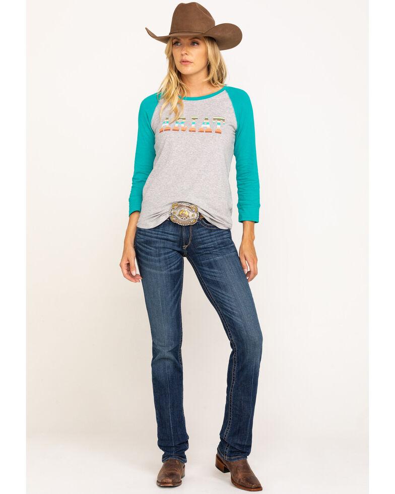 Ariat Women's Medium R.E.A.L. Rookie Straight Jeans , Blue, hi-res
