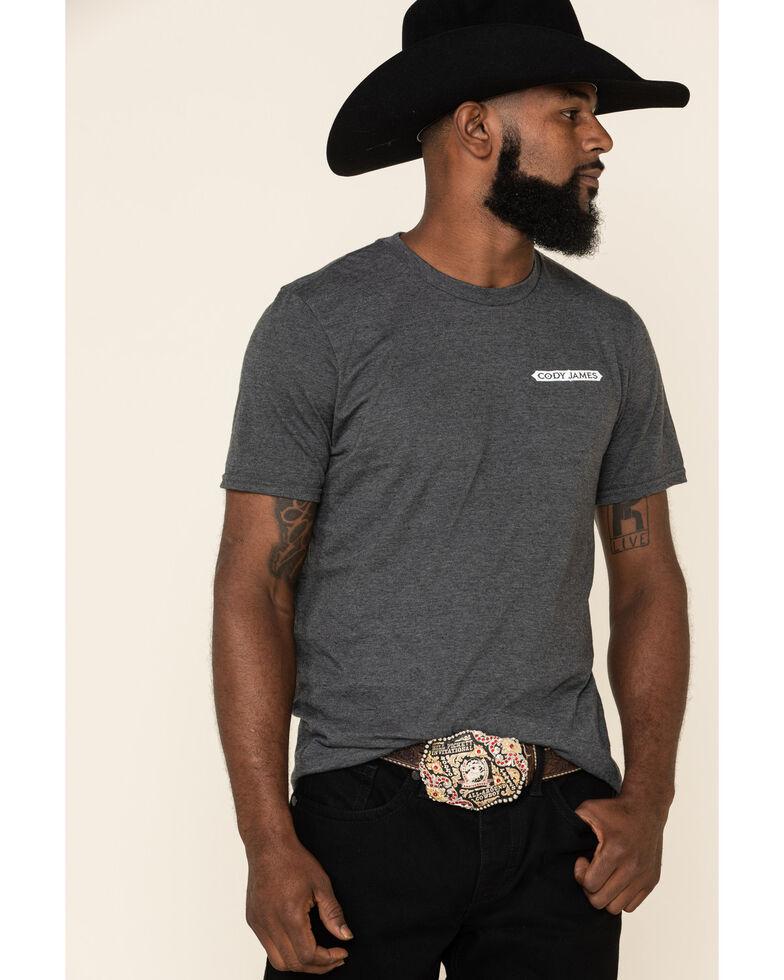 Cody James Men's Respect Earned Graphic Short Sleeve T-Shirt , Dark Grey, hi-res