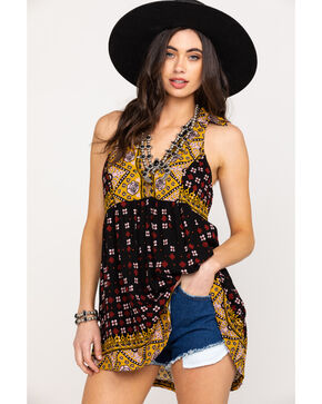 Free People Women's Charlotte Sleeveless Top, Black, hi-res
