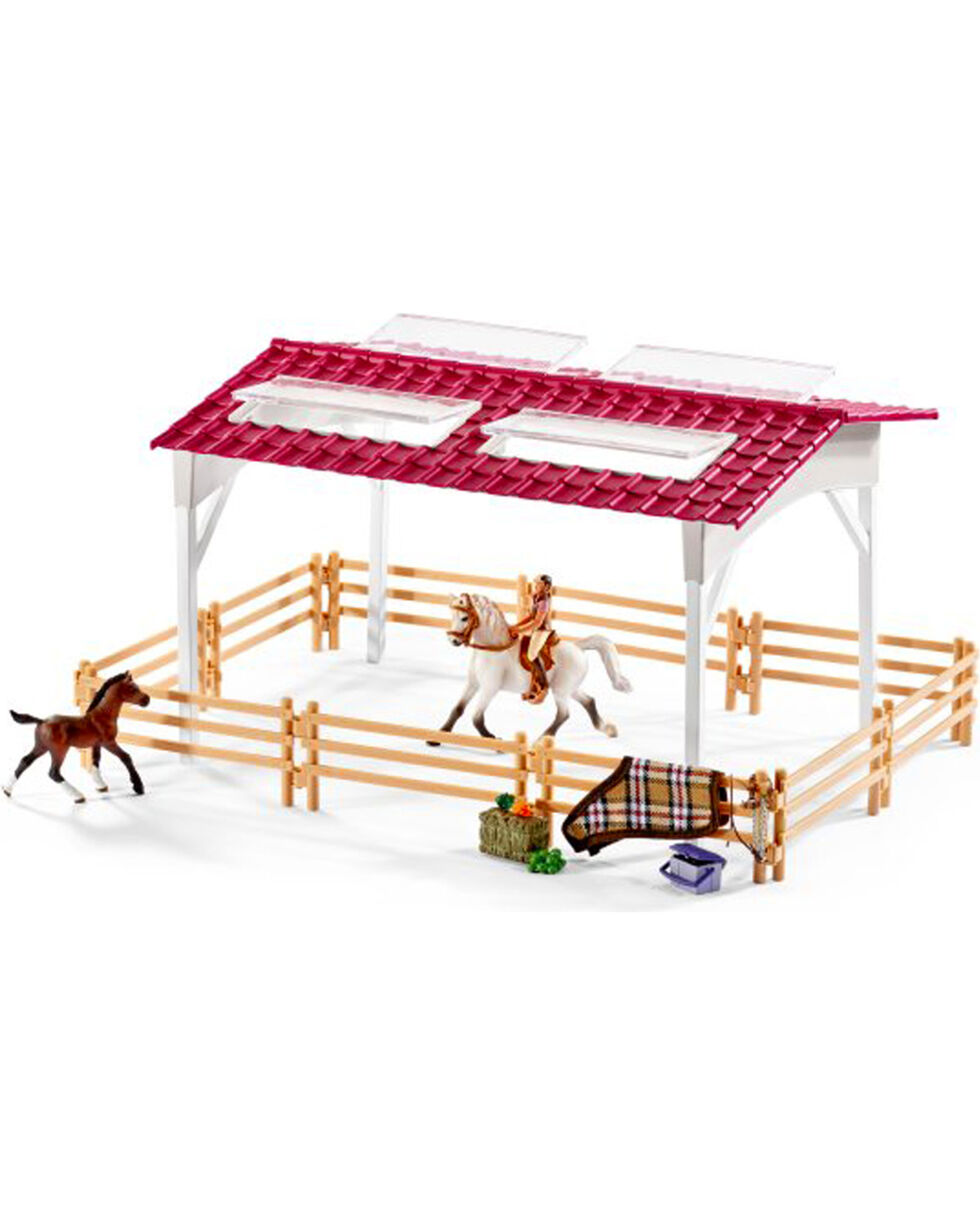 Schleich Rider and Horses Riding Center Set , White, hi-res