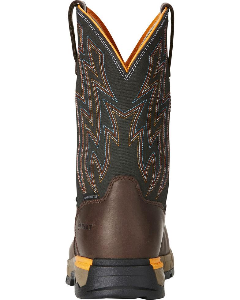 0f5e504a622 Ariat Men's Rebar Flex H2O Brown Western Work Boots - Composite Toe