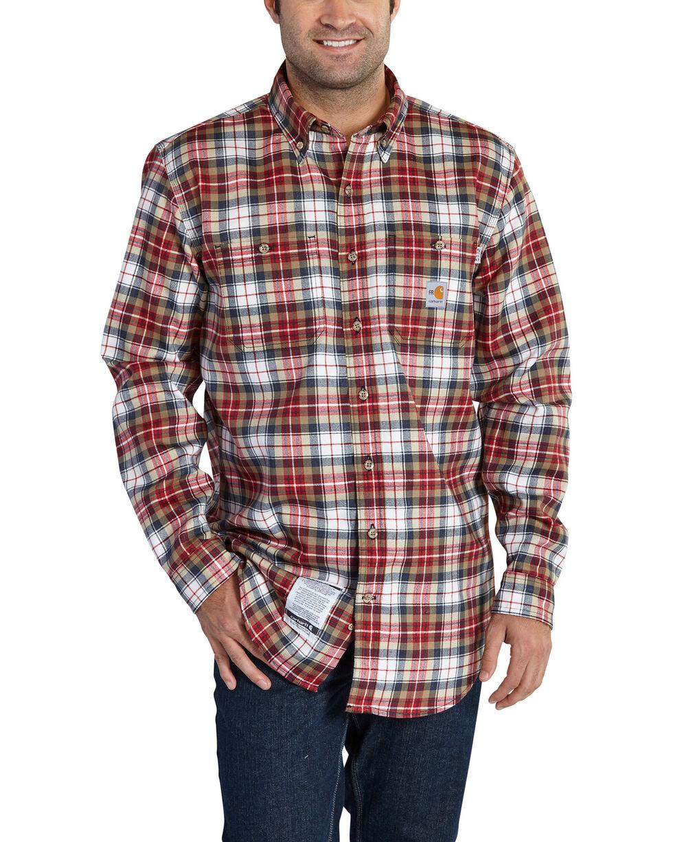 Carhartt Men's Flame Resistant Classic Plaid Shirt, Multi, hi-res