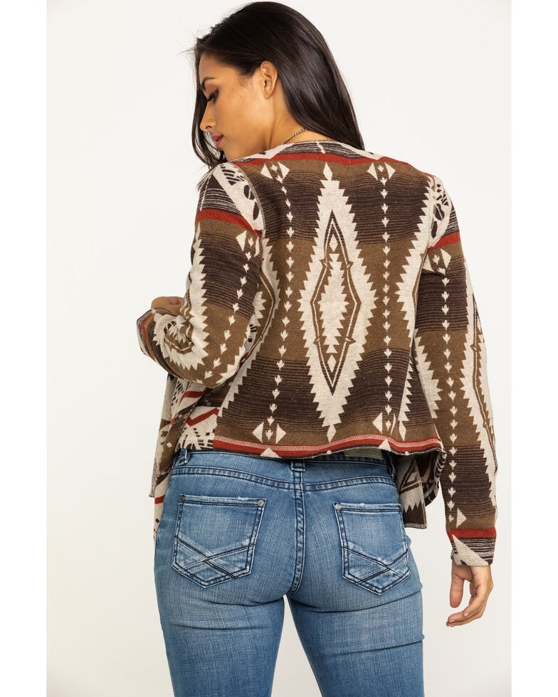 Shyanne Life Women's Aztec Fashion Jacket, Brown, hi-res