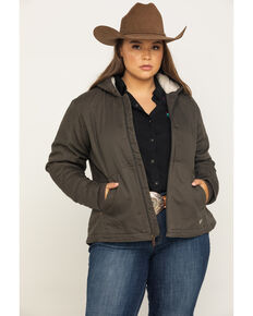 Ariat Women's R.E.A.L. Banyan Bark Outlaw Jacket - Plus, Brown, hi-res