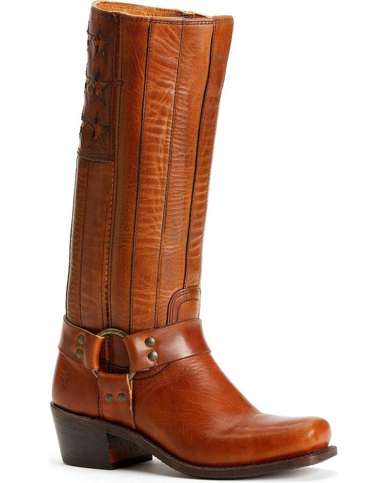 Frye Women's Harness Americana Western Boots, Tan, hi-res