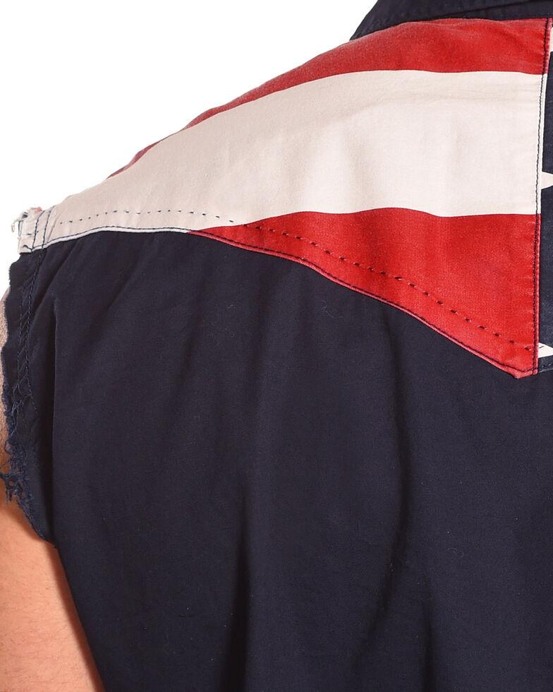 ef0e08916b050 Cody James Men s American Flag Sleeveless Western Shirt