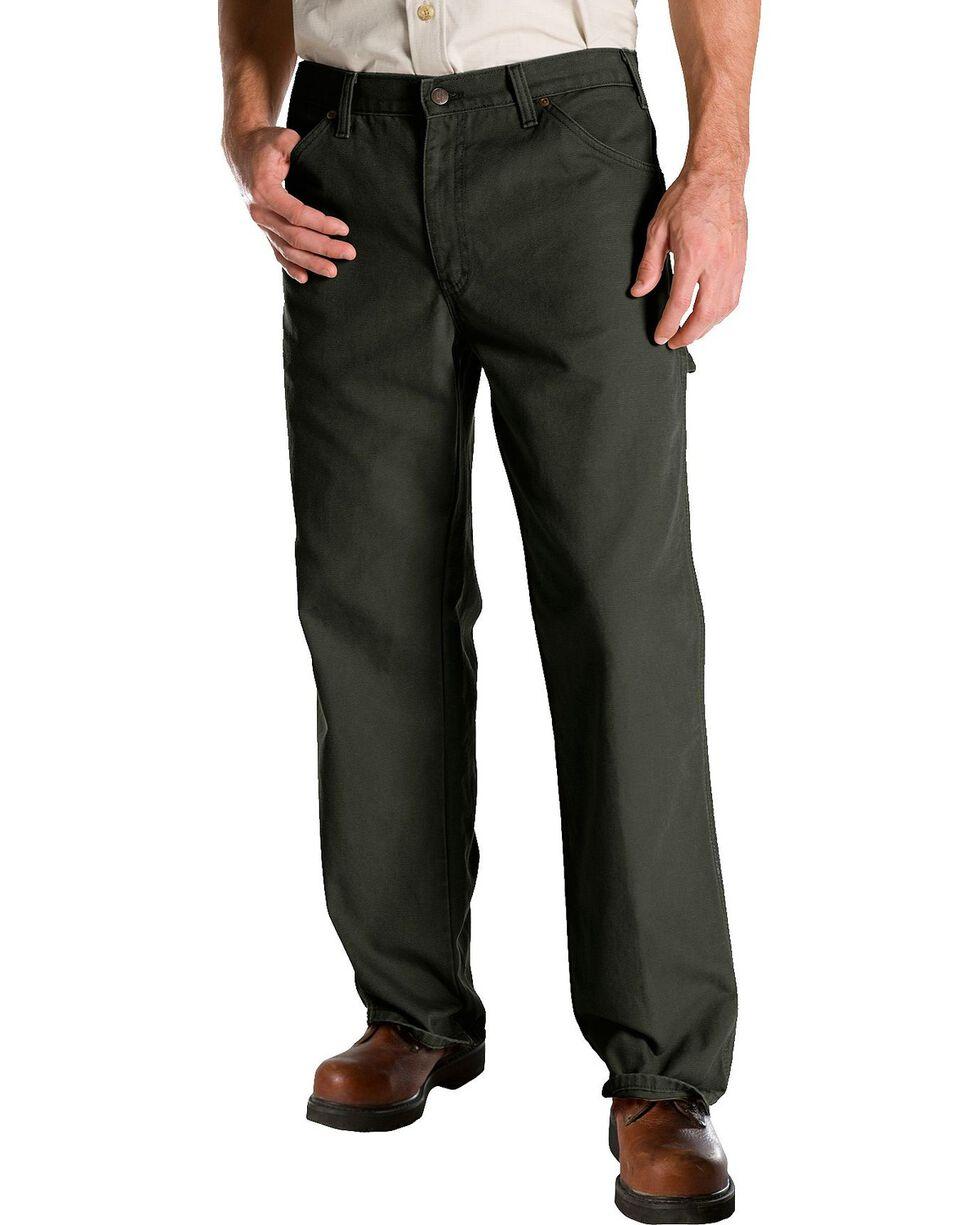 Dickies Rinsed Duck Utility Jeans, Moss, hi-res