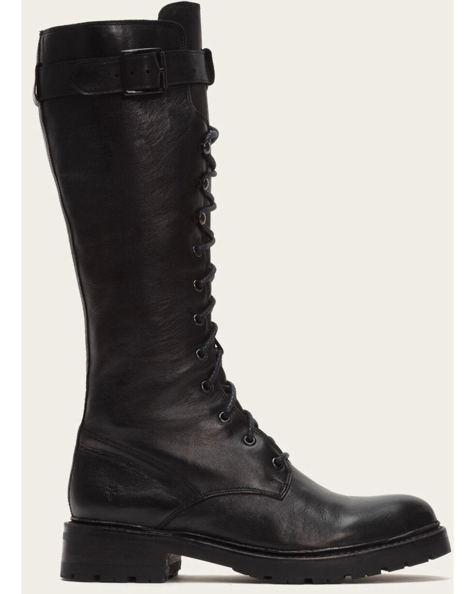 Frye Women's Julie Lace Tall Boots - Medium Toe , Black, hi-res