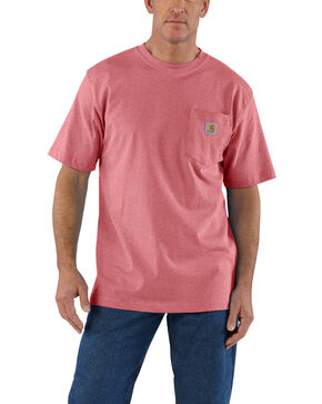 Carhartt Men's Pink Workwear Pocket Short-Sleeve Work T-Shirt - Big, Pink, hi-res