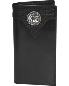 Jack Daniel's Men's Black Old #7 Leather Rodeo Wallet , Black, hi-res
