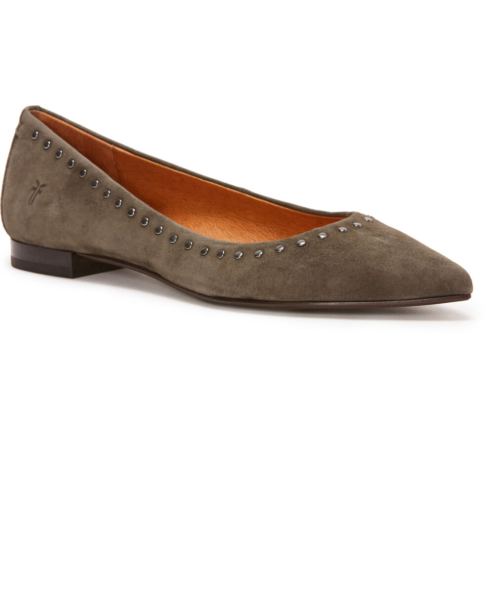 Frye Women's Grey Sienna Micro Stud Ballet Flats - Pointed Toe, Grey, hi-res