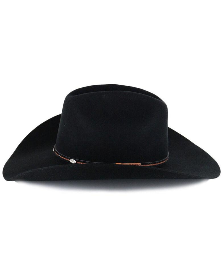 Cody James® Men's Lamarie Pro Rodeo Brim Wool Hat, Black, hi-res