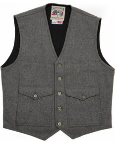 Schaefer Outfitter Men's Charcoal Scout Melton Wool Vest , Charcoal, hi-res