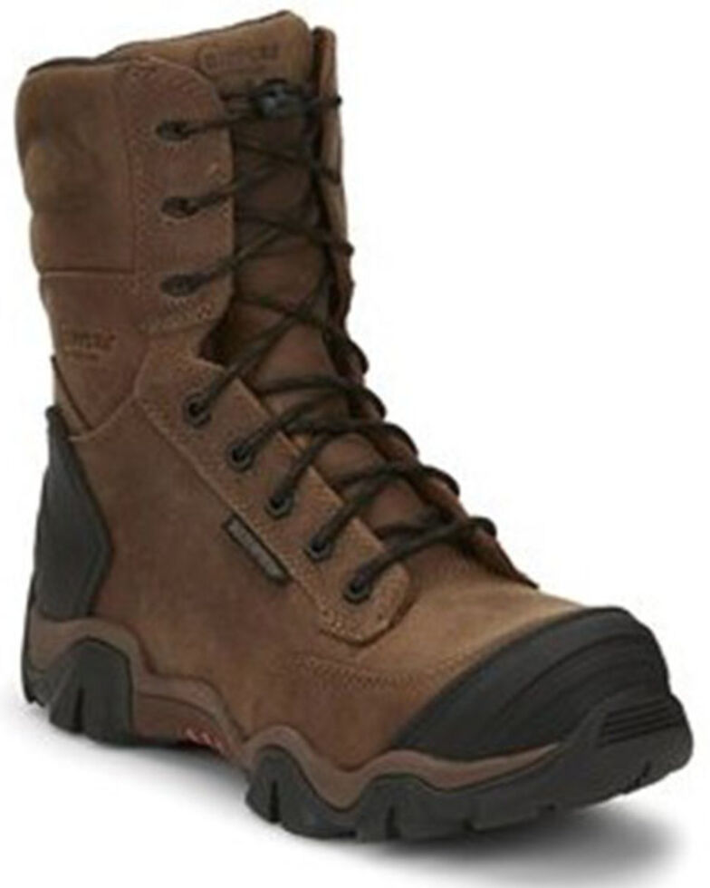 Chippewa Men's Cross Terrain Waterproof Work Boots - Nano Composite Toe, Brown, hi-res