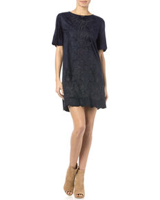 Miss Me Navy Crewneck Dress, Navy, hi-res