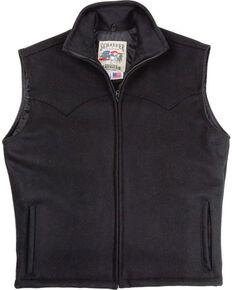 Schaefer Men's Black Arena Melton Wool Vest - 3XL, Black, hi-res