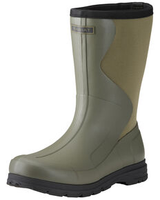 Ariat Men's Springfield Rubber Boots - Round Toe, Green, hi-res