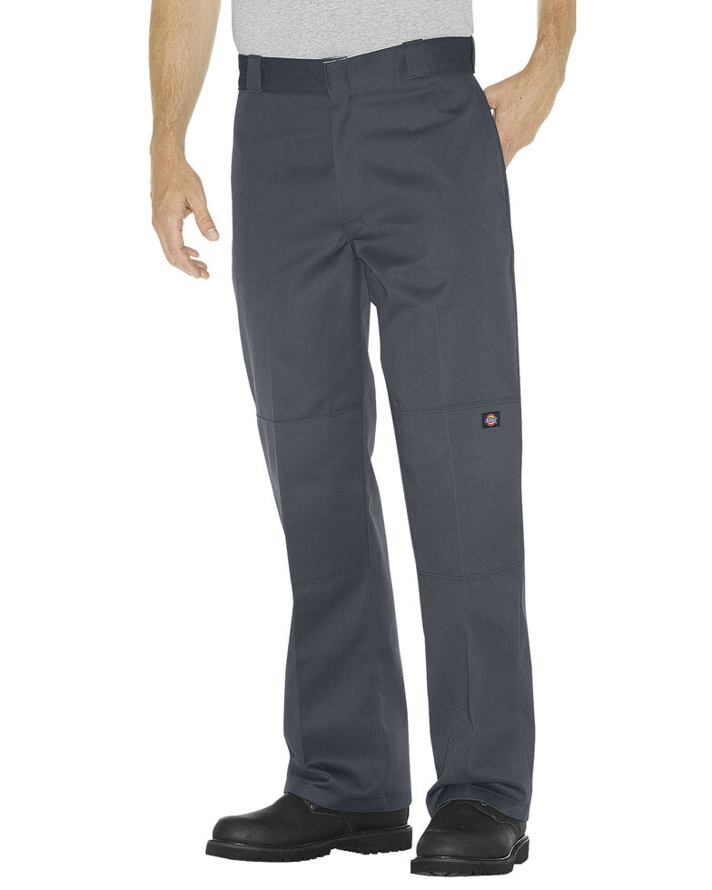 Dickies  Loose Fit Double Knee Work Pants - Big & Tall, Charcoal Grey, hi-res