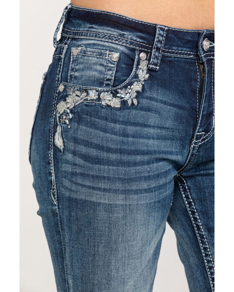 Grace in LA Women's Light Wash Mid Dreamcatcher Bootcut Jeans , Blue, hi-res