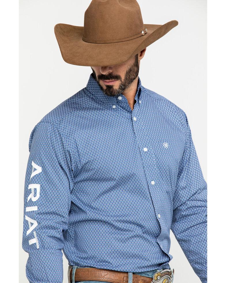 Ariat Men's Trevor Logo Geo Print Long Sleeve Western Shirt , Multi, hi-res