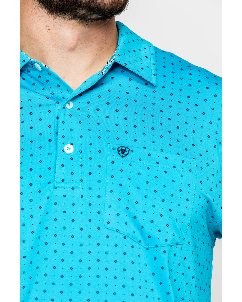 Ariat Men's Spray Print Short Sleeve Polo Shirt , Multi, hi-res