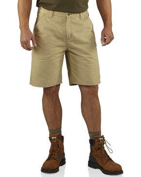 Carhartt Men's Washed Twill Dungaree Shorts, Khaki, hi-res