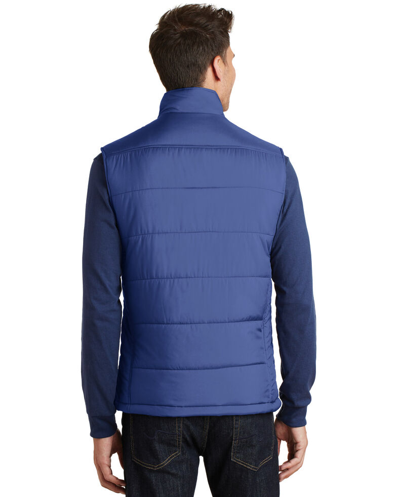 Port Authority Men's Blue 3X Puffy Polyfill Work Vest - Big , Multi, hi-res