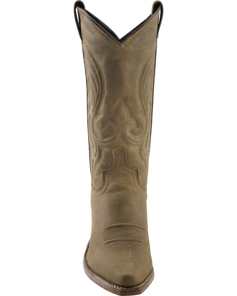 "Abilene Women's 11"" Western Boots, Brown, hi-res"