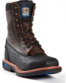 "Cinch Men's Utility 9"" Lace Up Work Boots, Black, hi-res"