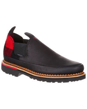 Georgia Boot Men's Giant Buffalo Romeo Shoes - Round Toe, Black, hi-res